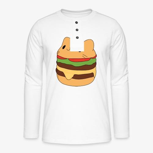 cat burger - Henley long-sleeved shirt