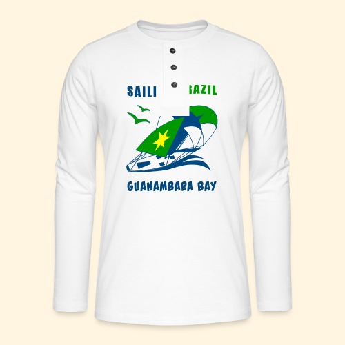 Sailing Brazil - Henley long-sleeved shirt