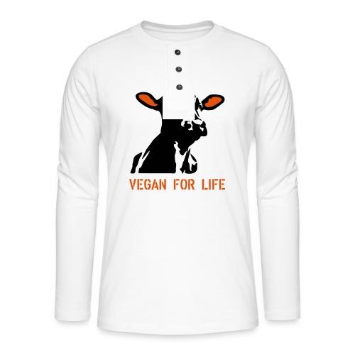 colorida vegan for life - Henley Langarmshirt