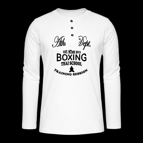 (high_school_couleur_uni) - T-shirt manches longues Henley