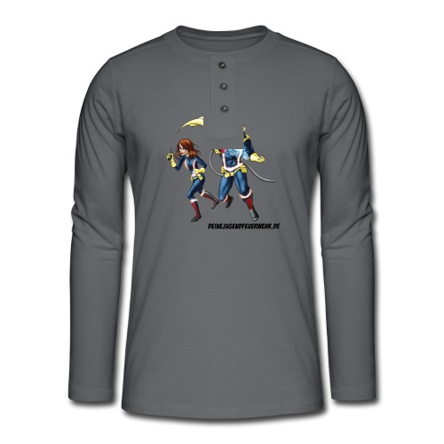 1+1=2Eine gute Connection - Henley Langarmshirt