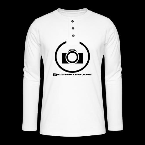 sort2 png - Henley T-shirt med lange ærmer