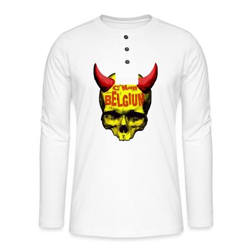 Belgium Devil 2 - Henley shirt met lange mouwen