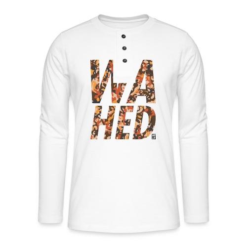 WAHED2 - Henley shirt met lange mouwen