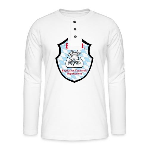Inoffizielles bayrisches Feuerwehrabzeichen - Henley Langarmshirt