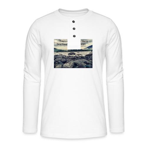 Oceanheart - Henley langermet T-skjorte