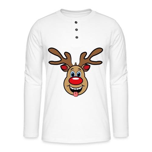 UGLY XMAS - Reindeer Rudi - Henley Langarmshirt