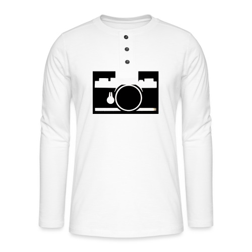 Vintage Camera - Maglia a manica lunga Henley