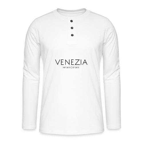 Lagunenstadt Venedig, Venetien, Italien, Adria - Henley Langarmshirt