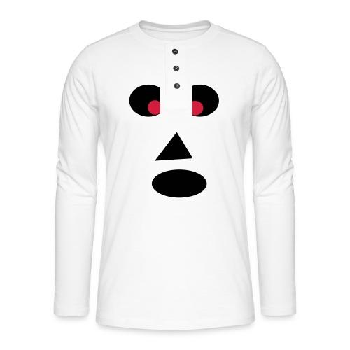 Ansigt - Henley T-shirt med lange ærmer