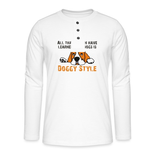Doggy Style - T-shirt manches longues Henley