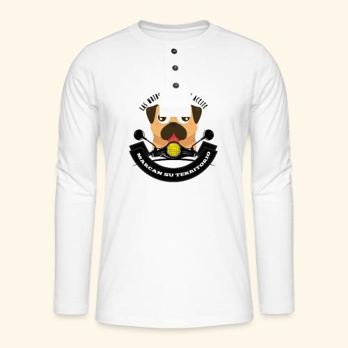 Territorio Perruno - Camiseta panadera de manga larga Henley
