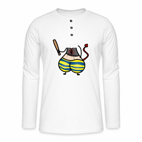 Devil No Touchies Charlie - Henley long-sleeved shirt