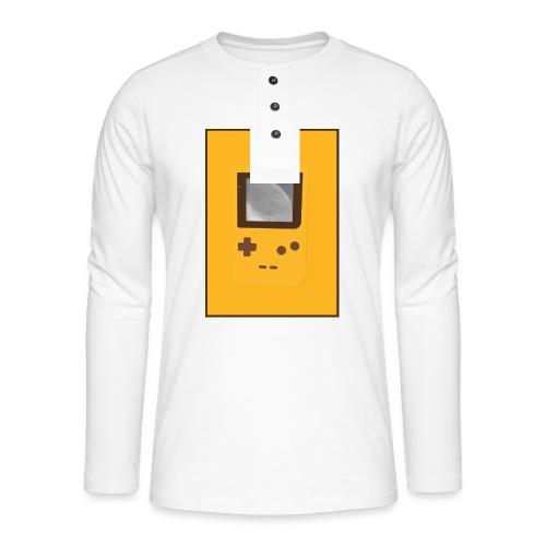 Game Boy Nostalgi - Laurids B Design - Henley T-shirt med lange ærmer