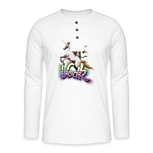 VodK licorne png - T-shirt manches longues Henley