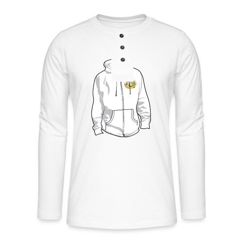 hoodyfront - Henley shirt met lange mouwen