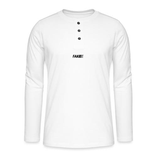 fake logo corruped - Maglia a manica lunga Henley