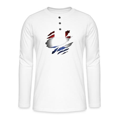 Dutch Inside: Vlag - Henley shirt met lange mouwen