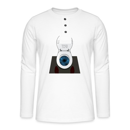 God is watching you! - Maglia a manica lunga Henley