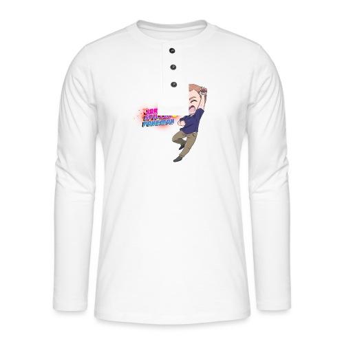 Jørgen spiller lommemonstre - Henley T-shirt med lange ærmer