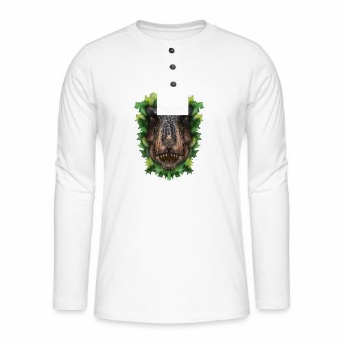 Rext - original artwork by artist Jon Ball - Henley long-sleeved shirt