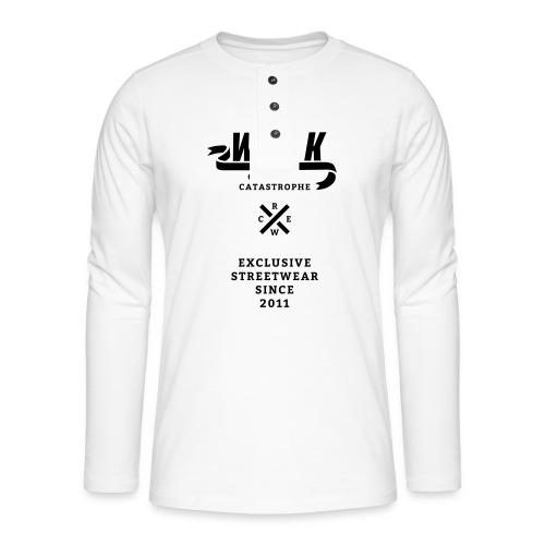 varsityx04 - Henley shirt met lange mouwen