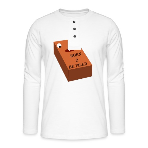 Brick Life - Henley shirt met lange mouwen