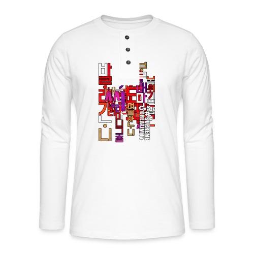 Hangul - T-shirt manches longues Henley