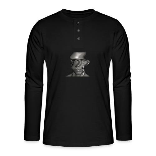 cursor_tears - Henley long-sleeved shirt