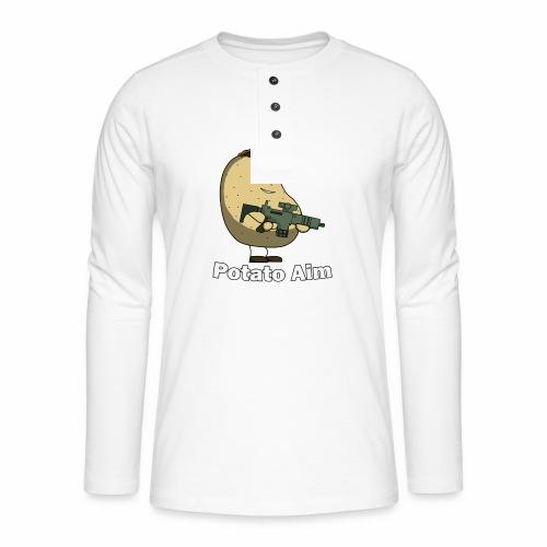 Mr Potato Aim - Henley long-sleeved shirt
