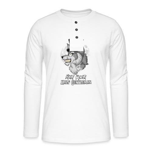 Half Wolf Half Gentleman - Koszulka henley z długim rękawem