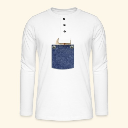 hamster in the poket - Maglia a manica lunga Henley