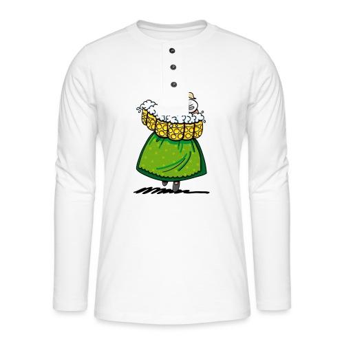 Oktoberfest Bedienung Maßkrüge - Henley Langarmshirt