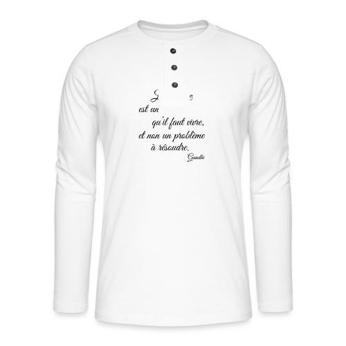 La vie et cest mysteres - Henley Langarmshirt