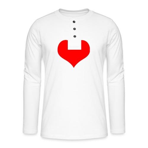 rotes Herz - Henley Langarmshirt