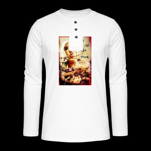 Make Art Like Punk - T-shirt manches longues Henley