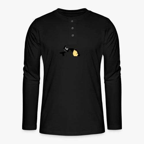 Mateba - Henley T-shirt med lange ærmer