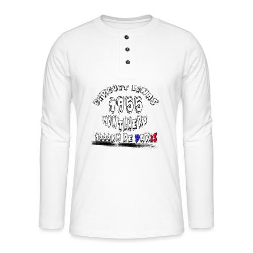 Les anciennes courses automobile - T-shirt manches longues Henley