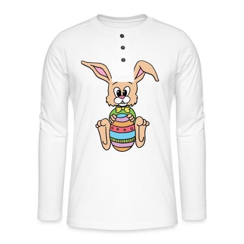 Easter Bunny Shirt - Henley Langarmshirt