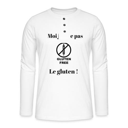 Moi j'ai pas le gluten - T-shirt manches longues Henley