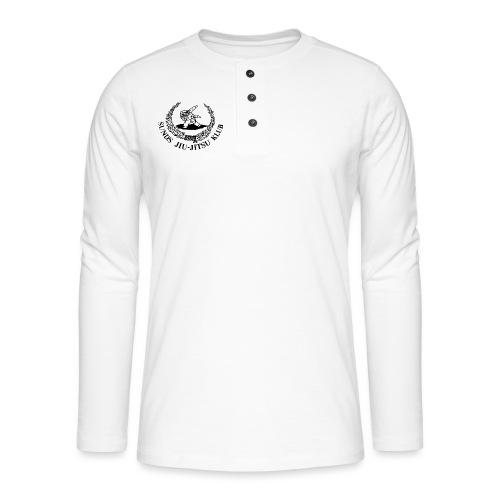 logo på brystet - Henley T-shirt med lange ærmer