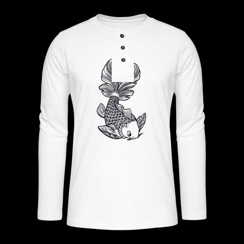 Pesce Tattoo Flash - Maglia a manica lunga Henley