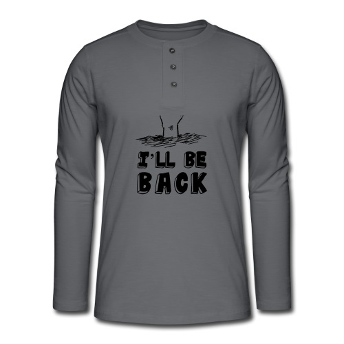 be back - T-shirt manches longues Henley
