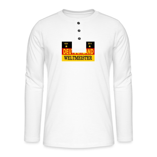 Flag of Deutschland - Henley shirt met lange mouwen
