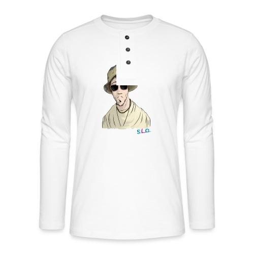 Hippie - Tee shirt manches longues Premium Femme - T-shirt manches longues Henley
