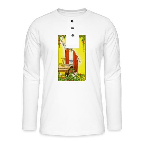 tarot - Henley shirt met lange mouwen