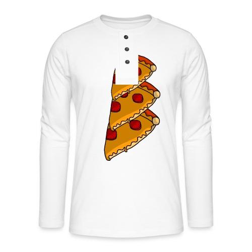 pizza - Henley T-shirt med lange ærmer