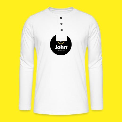 logo john - Camiseta panadera de manga larga Henley