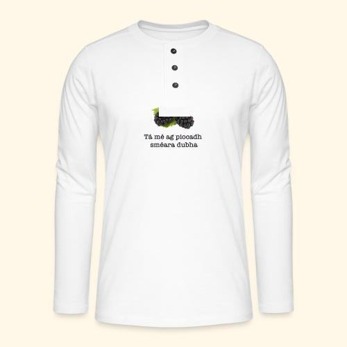 Picking blackberries - Henley long-sleeved shirt