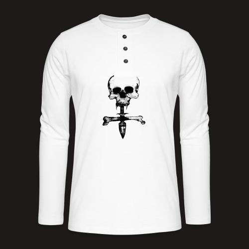 Skull Symbol - Henley Langarmshirt